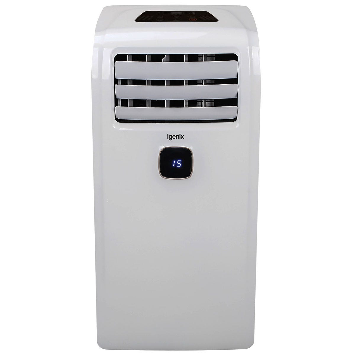 Igenix IG9911 9000BTU 3-in-1 Cooling, Fan and Dehumidifier Portable Air Conditioner - White