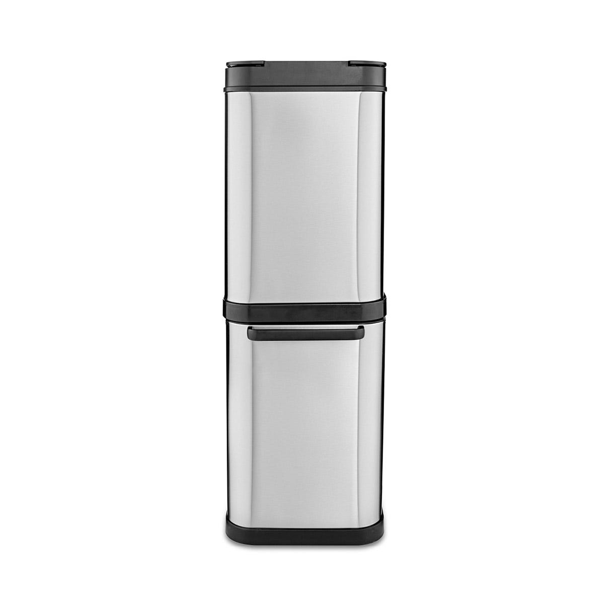 Tower 50L Dual Recycling Bin - Stainless Steel
