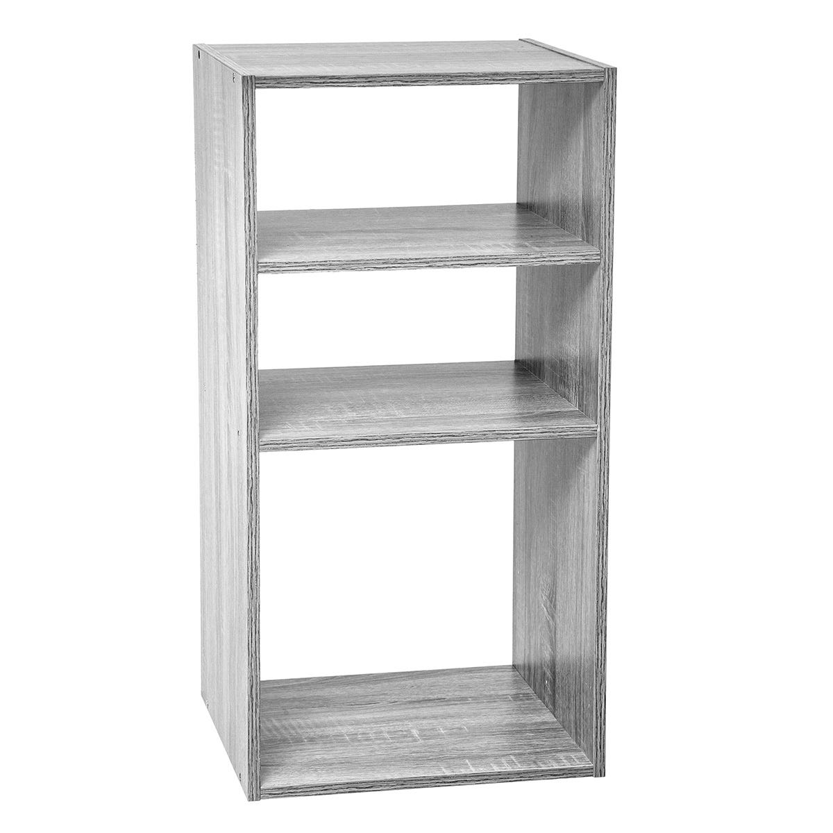 5Five 2 Small and 1 Large Compartment Shelving Unit - Grey