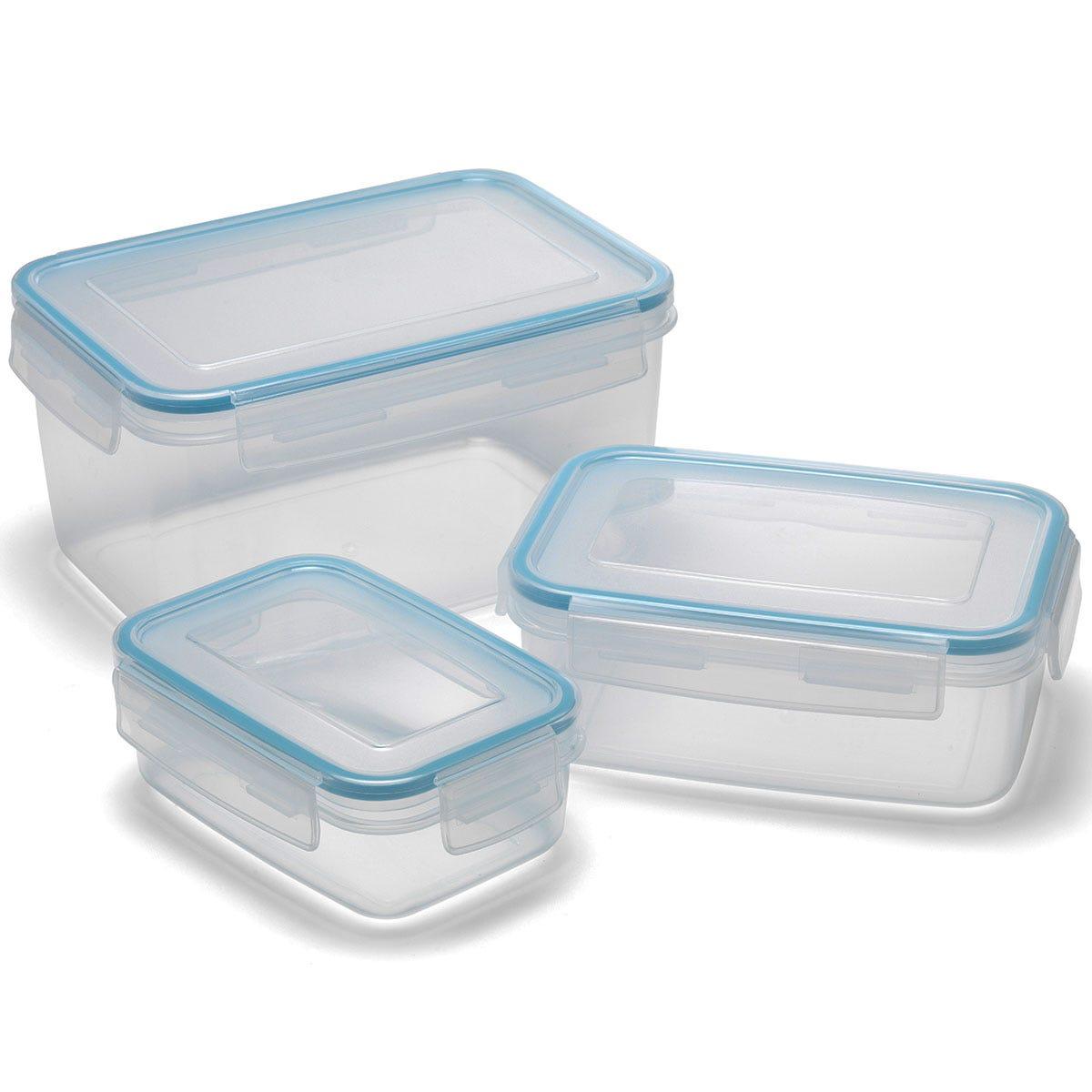 Image of Addis Clip & Close Rectangular 3 Piece Food Storage Set