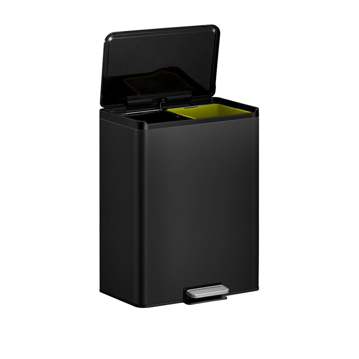 EKO Ecocasa III Recycling Bin 20+20L - Matte Black