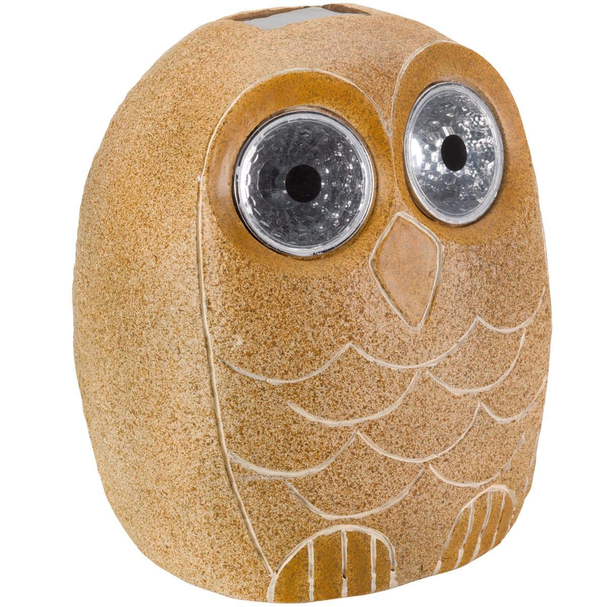 Smart Garden Bright Eye Stony Owl Solar Light