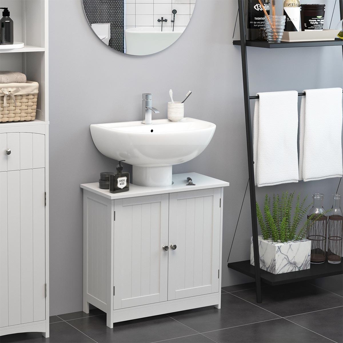 HOMCOM Basin Vanity Cabinet - White