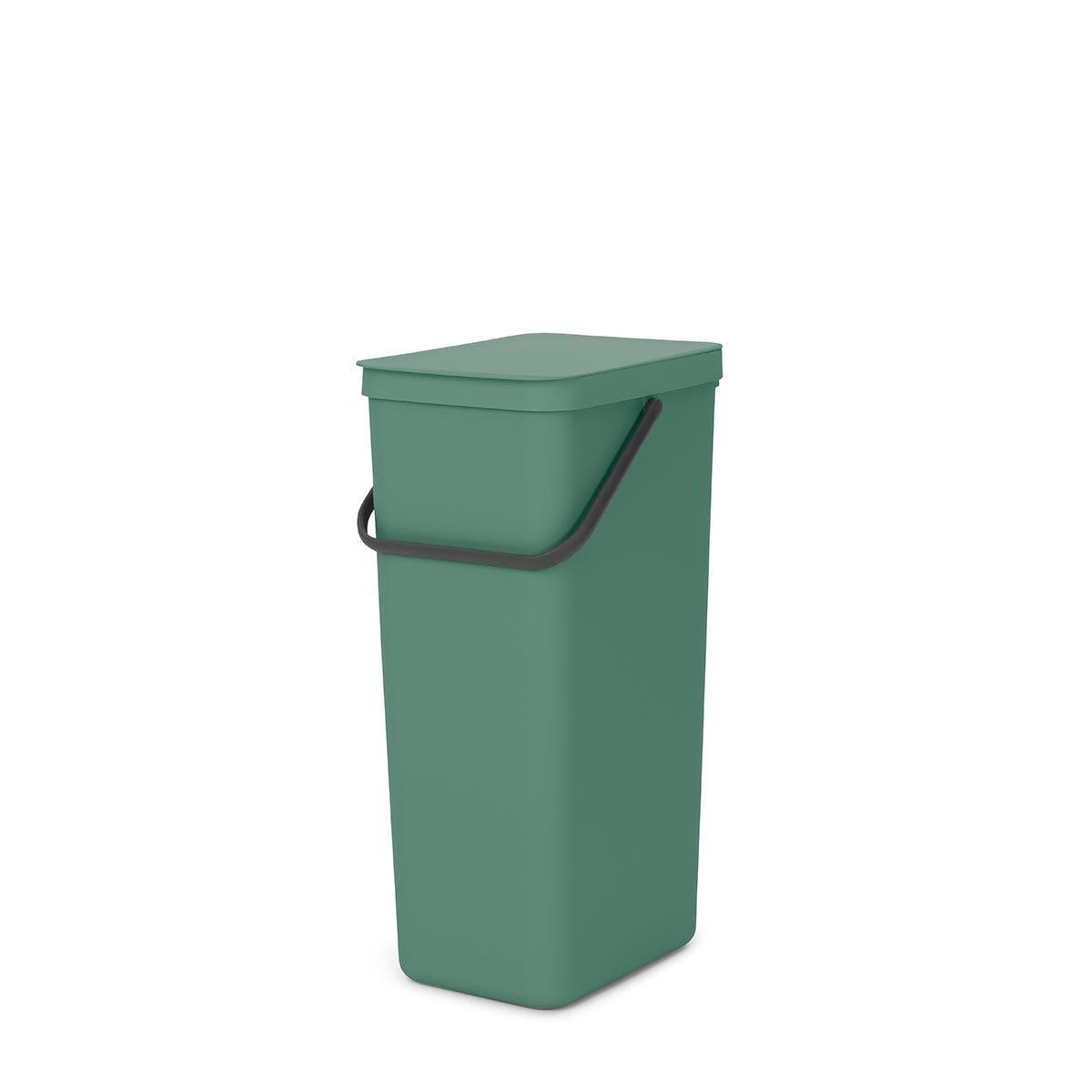 Brabantia Sort & Go Recycle Bin, 40L - Green