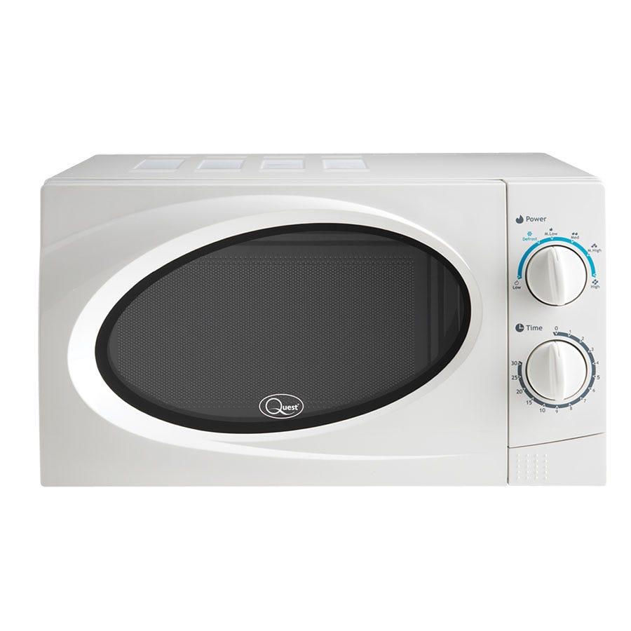 Quest 35850 700W Classic Solo 20L Microwave - White