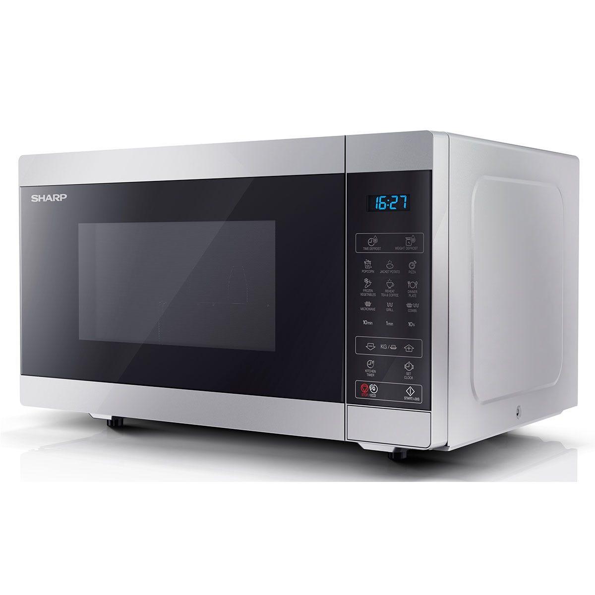 Sharp YC-MG51U-S 900W Digital Touch Control 25L Microwave with 1000W Grill - Silver