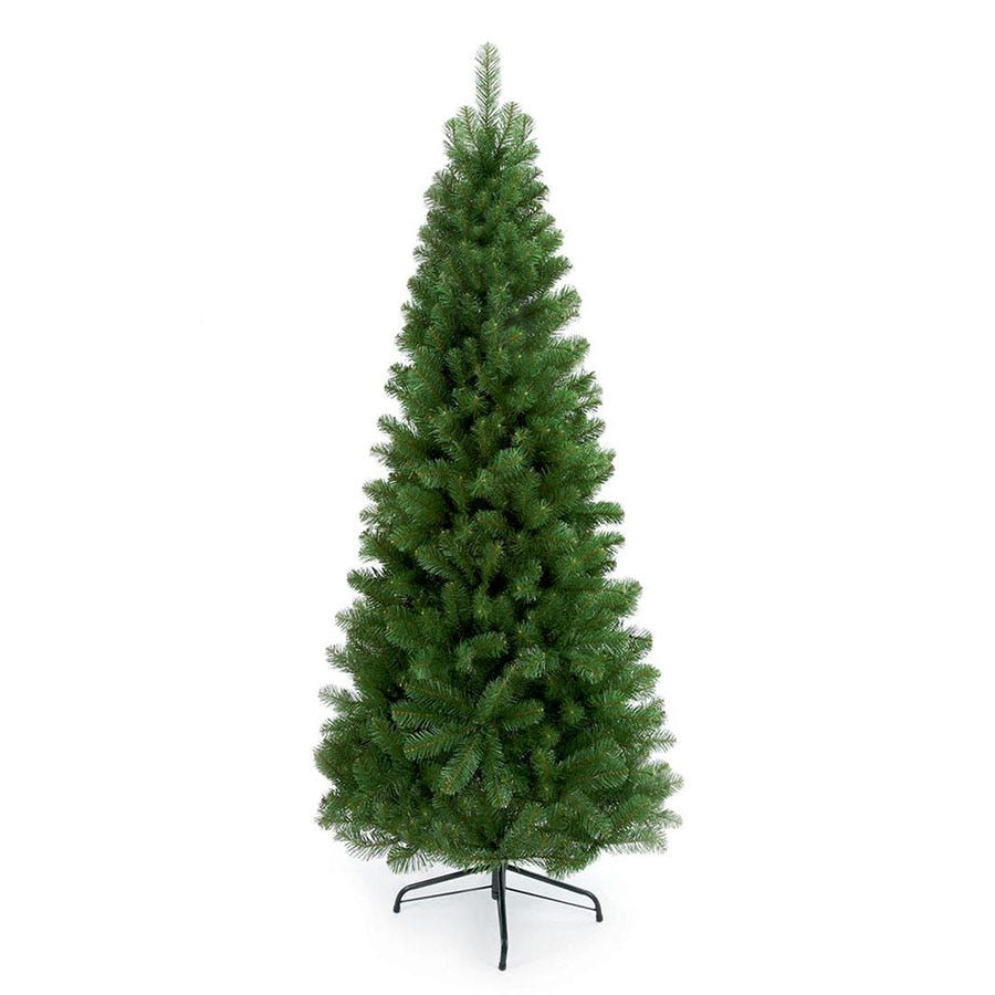 Premier Ltd Green Slim Spruce Tree Hinged Branches with Metal Stand - 1.8m