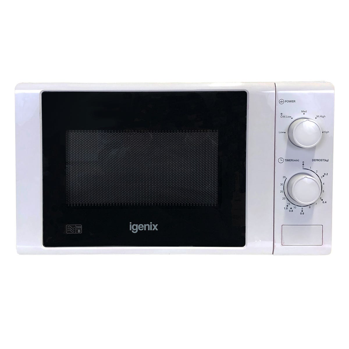Igenix IG2071 20L 700W Manual Microwave - White