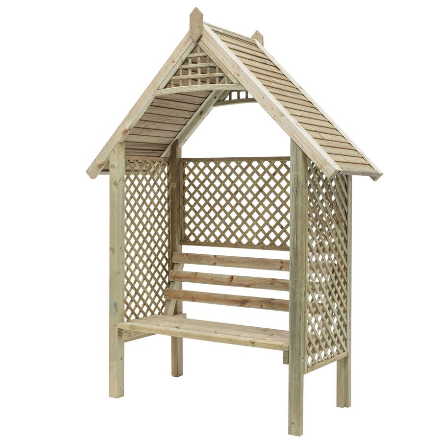 Compare prices for Grange Fencing Valencia Arbour - Natural Wood