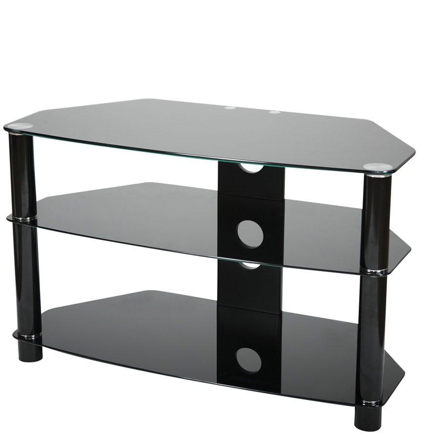 Vivanco 60cm Glass Tv Stand Black 49 99 Gay Times