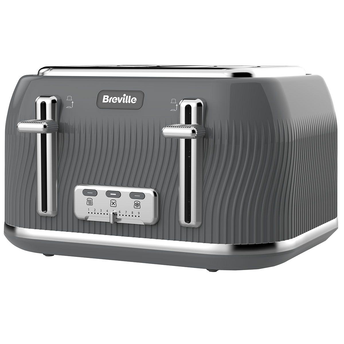 Breville VTT892 Flow Collection 4-Slice Toaster - Grey