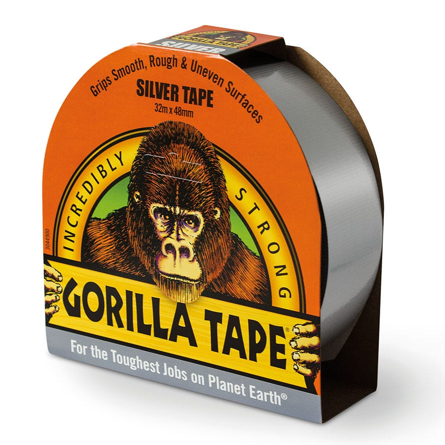 Compare prices for Gorilla Tape Reinforced Duct Tape - Silver - 27m Roll