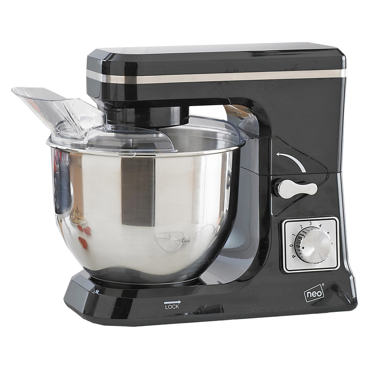 Neo 5L 800W 6 Speed Electric Stand Mixer - Black