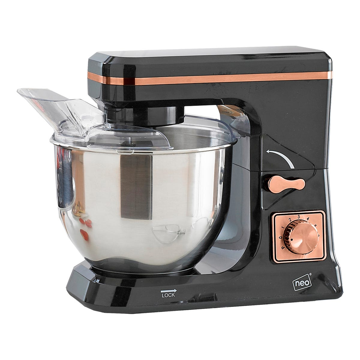 Neo 5L 800W 6 Speed Electric Stand Mixer - Copper and Black