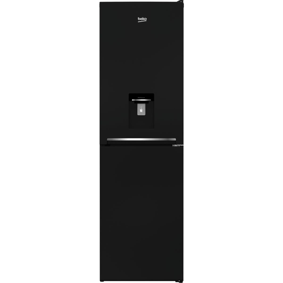 Beko CFG3582DB 263L Frost Free Combi Fridge Freezer with Water Dispenser - Black