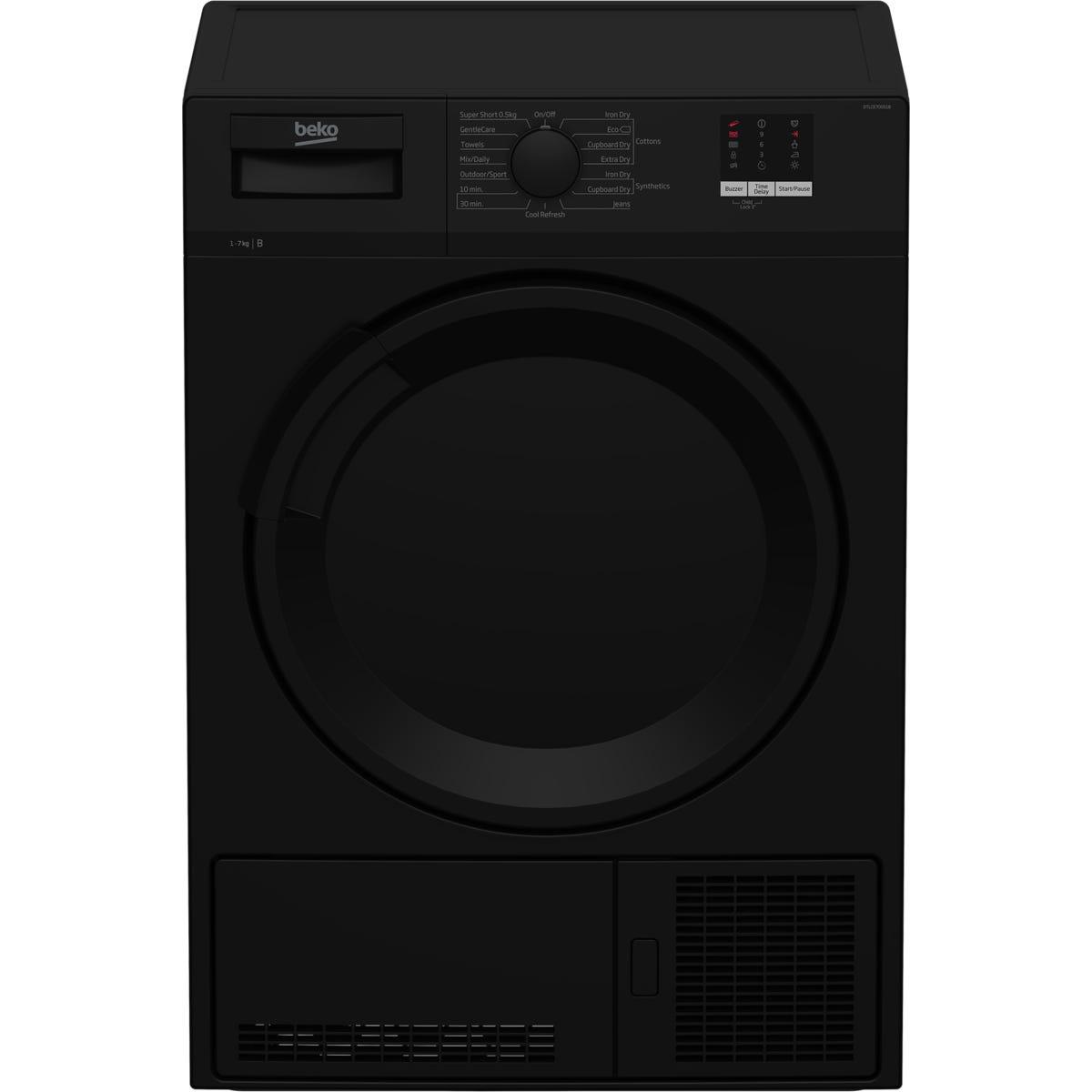 Beko DTLCE70051B 7kg Freestanding Condenser Tumble Dryer - Black