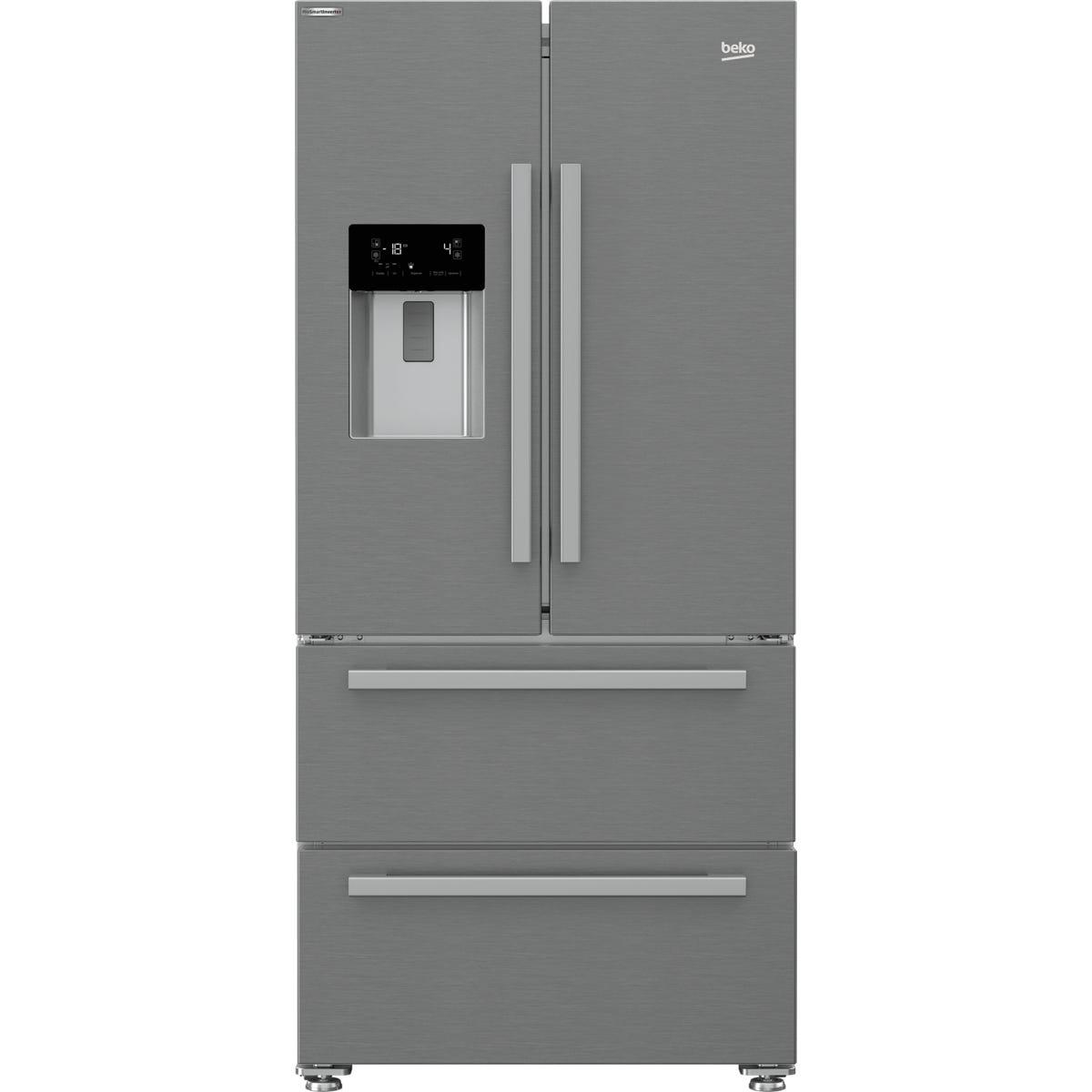 Beko GNE360520DX 530L American Style Fridge Freezer - Stainless Steel