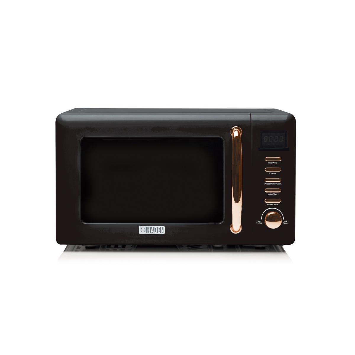Haden 197061 Salcombe 20L 800W Microwave - Black/Copper
