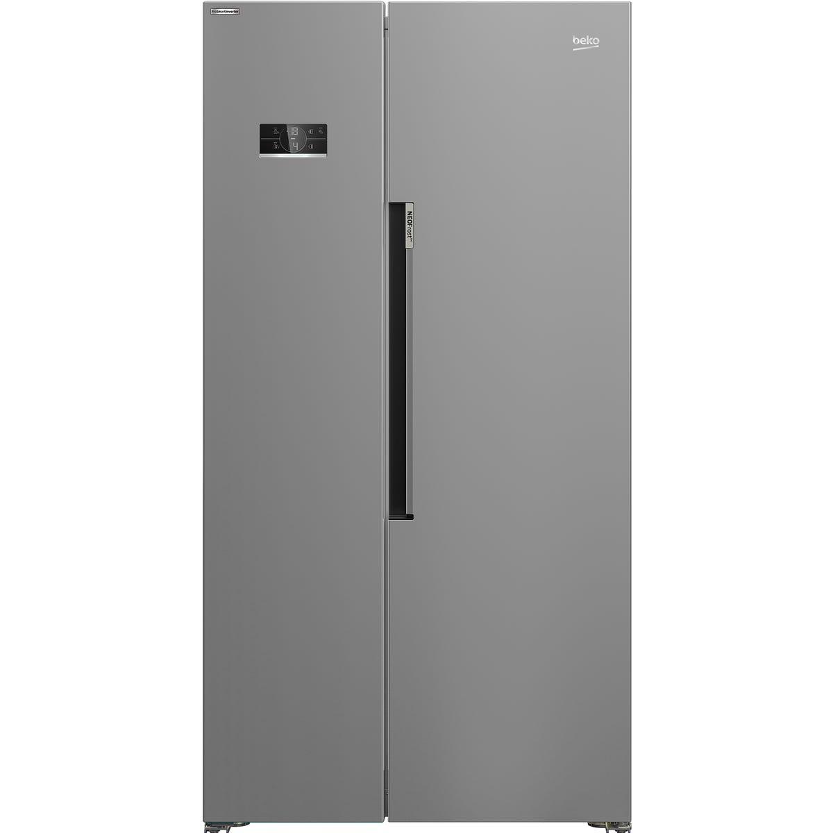 Beko ASL1342S American Style Frost Free 368L/212L Fridge Freezer - Silver