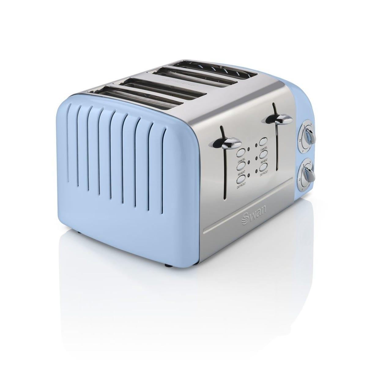 Swan ST34020BLN 4 Slice Retro Toaster - Blue