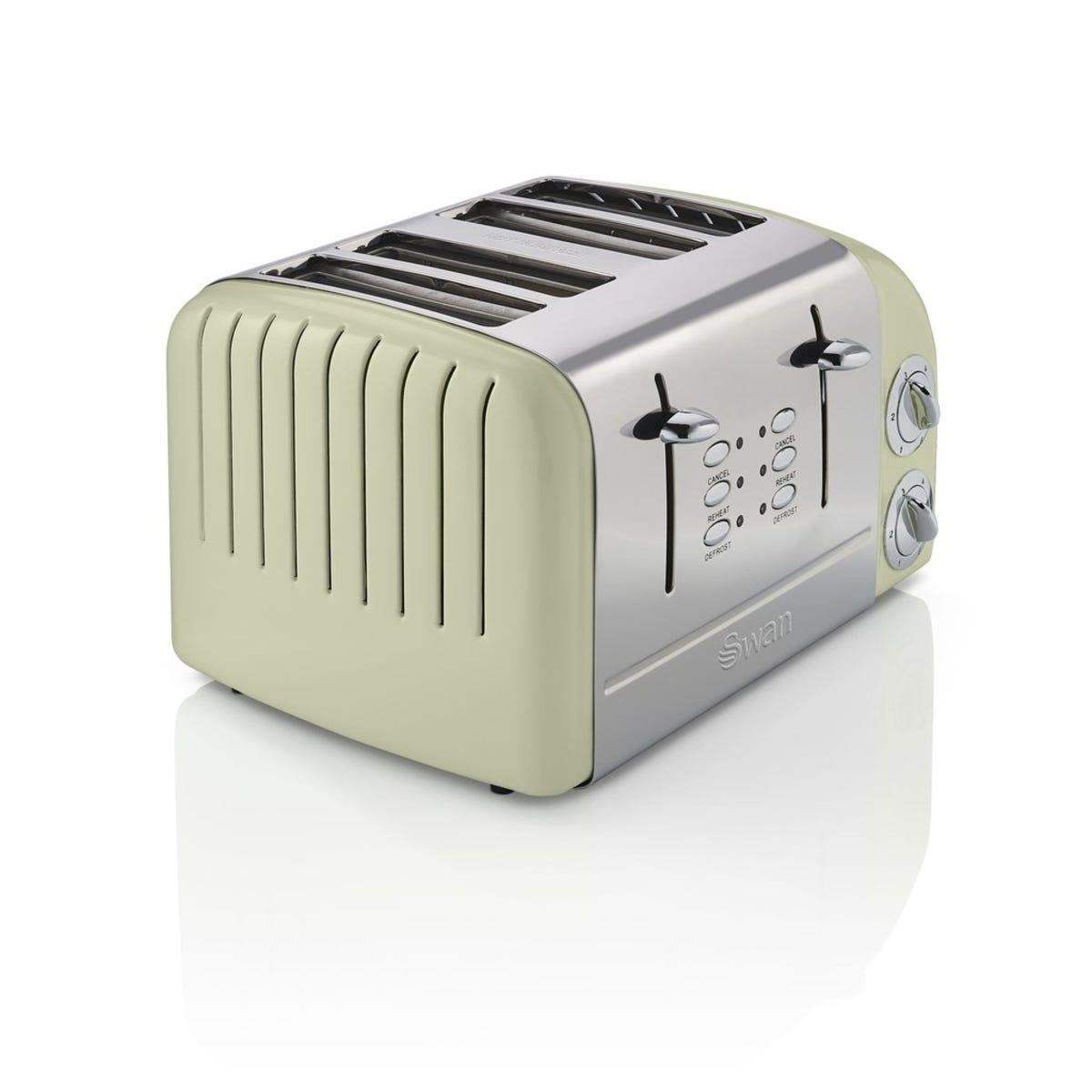 Swan ST34020GN 4 Slice Retro Toaster - Green