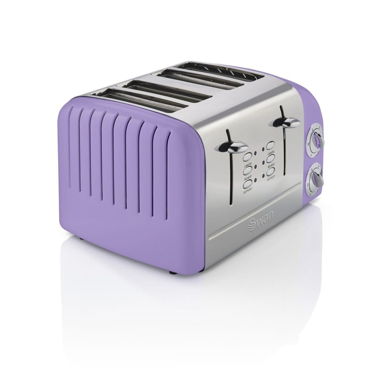 Swan ST34020PURN 4 Slice Retro Toaster - Purple
