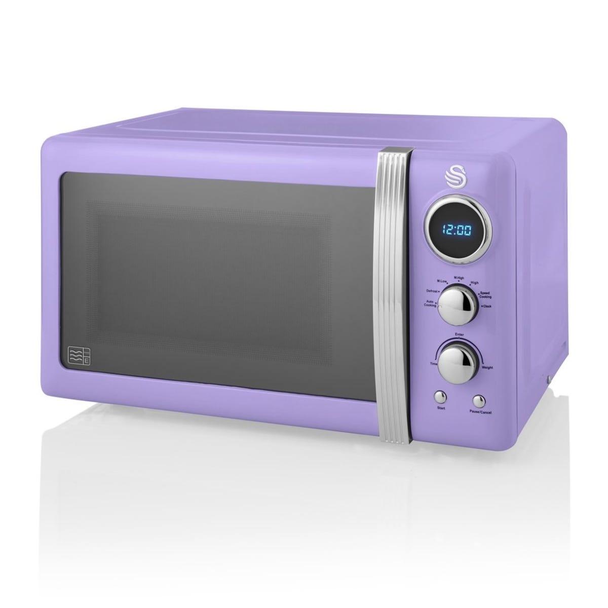 Swan SM22030PURN 800W 20L Retro Digital Microwave - Purple