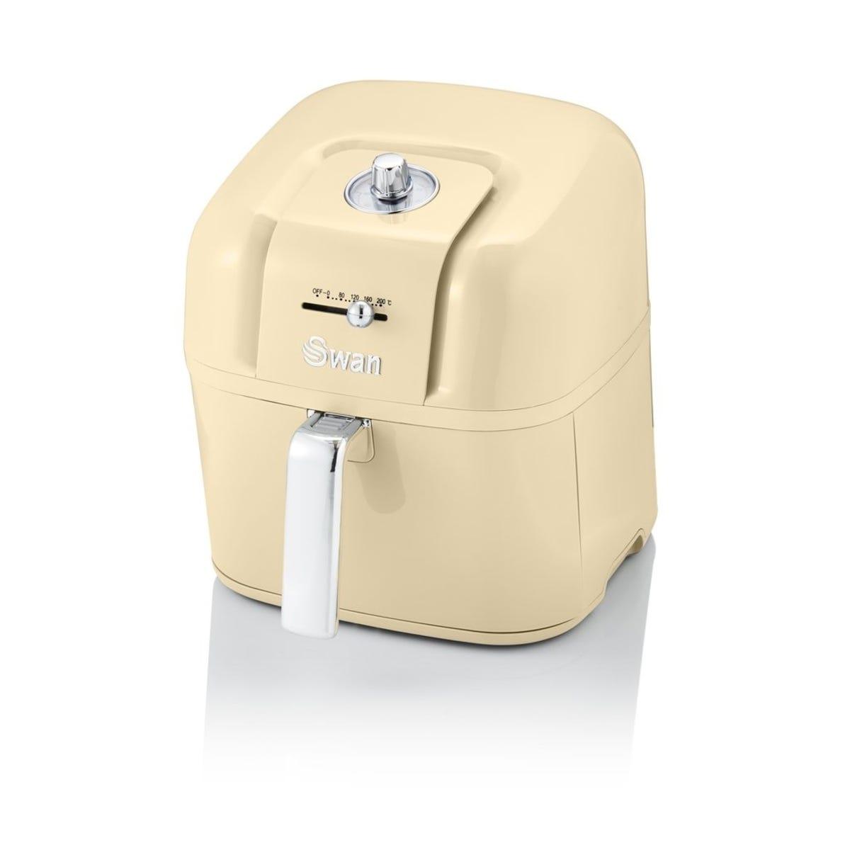 Swan SD10510CN 6L Retro Manual Air Fryer - Cream