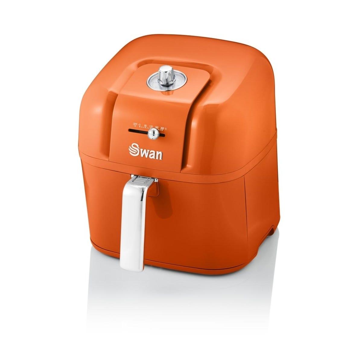 Swan SD10510ON 6L Retro Manual Air Fryer - Orange