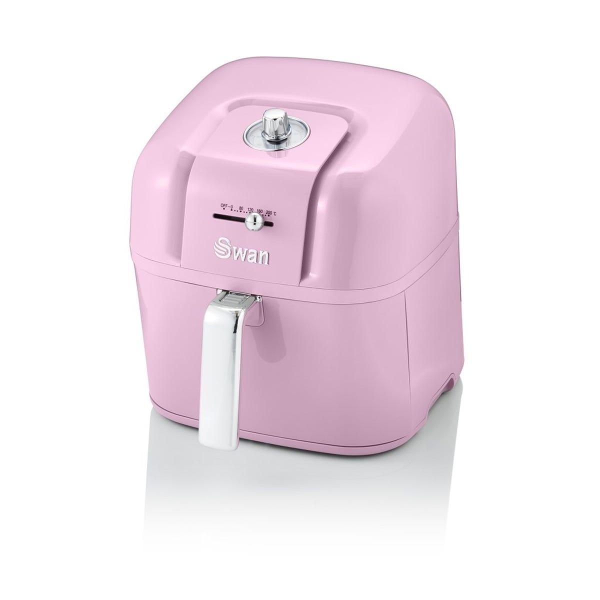 Swan SD10510PN 6L Retro Manual Air Fryer - Pink