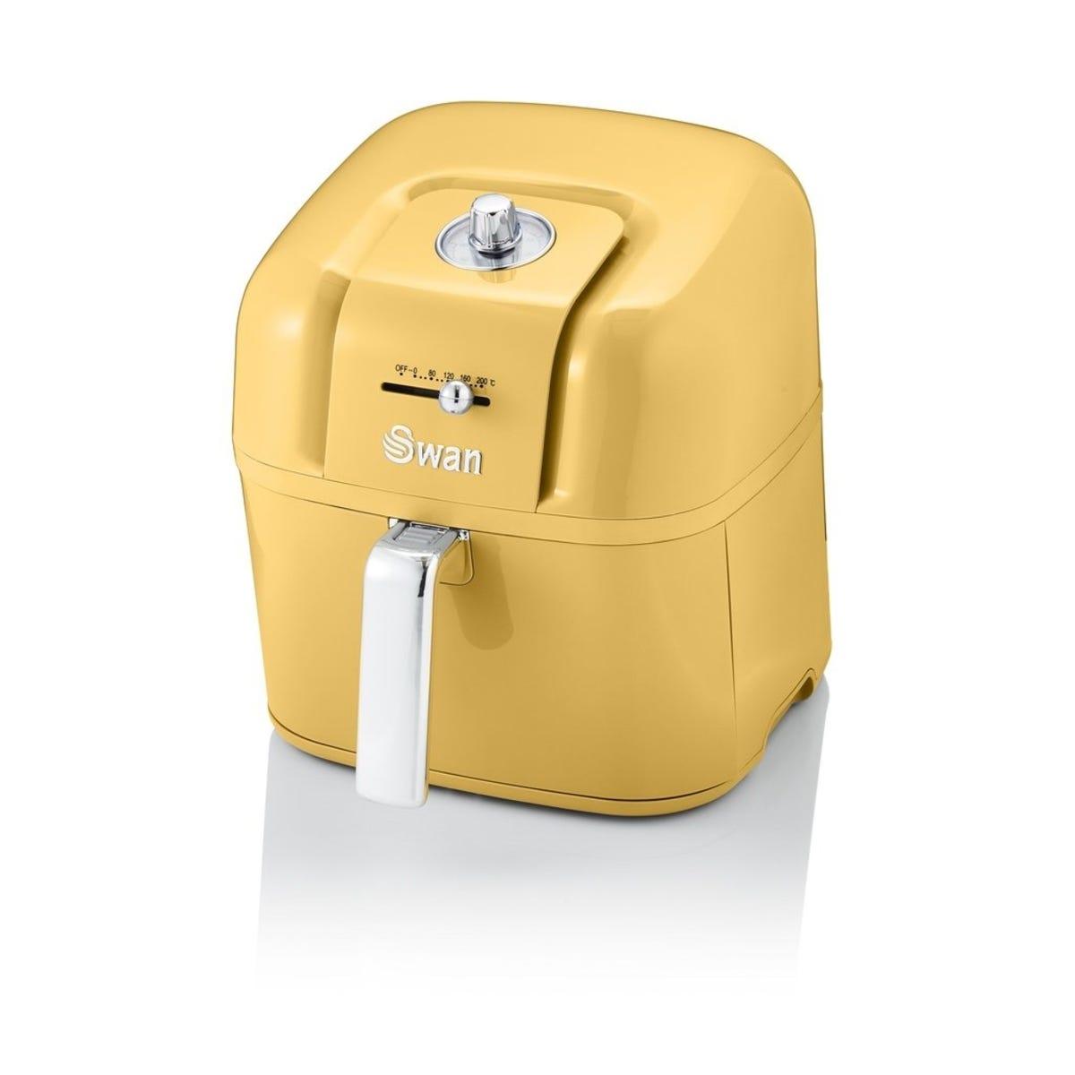 Swan SD10510YELN 6L Retro Manual Air Fryer - Yellow