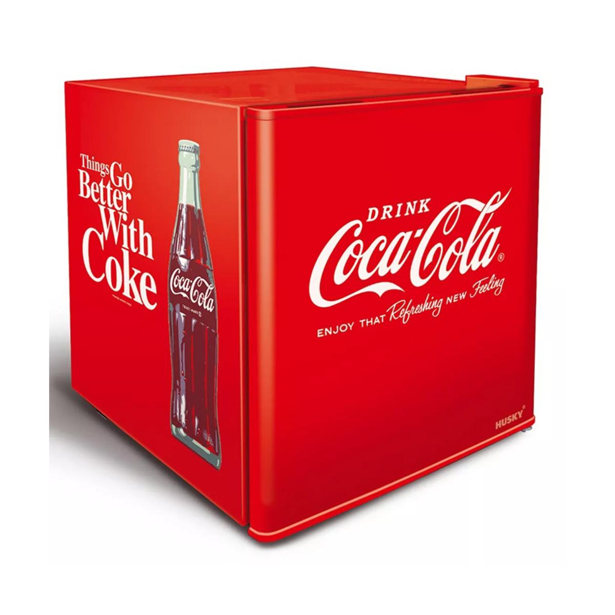 Husky HUS-EL196 46L Coca-Cola Mini Fridge - Red
