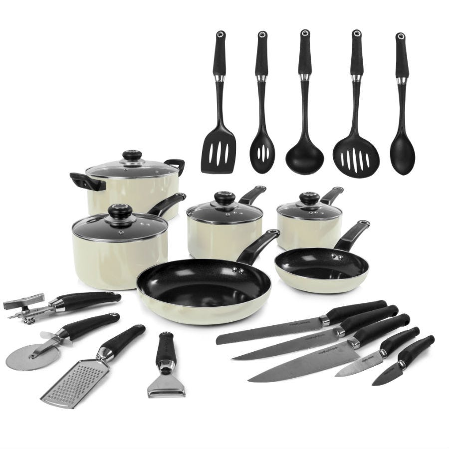Morphy Richards Pots And Pans: Morphy Richards 6-Piece Non-Stick Pan Set With 5 Knives