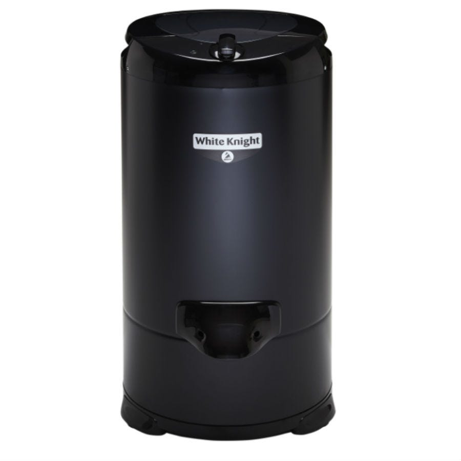 Compare prices for White Knight 28009B Gravity Drain Spin Dryer - Black
