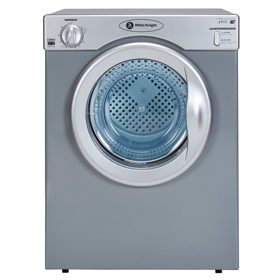 Compare prices for White Knight C39AW 3.5kg Vented Tumble Dryer - Silver