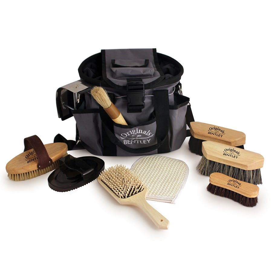 Compare cheap offers & prices of Charles Bentley Horse Grooming Set Brush Pony Wooden 10 Piece Deluxe Premium manufactured by Charles Bentley