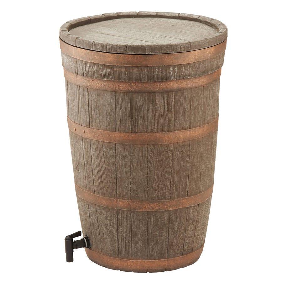 Image of Charles Bentley 120l Oak Wood Water Butt