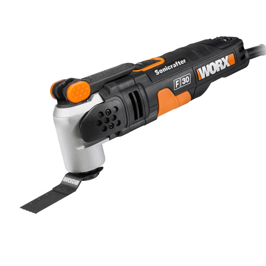 Buy Brand New Worx Sonicrafter F30 350W Universal Oscillating Multi-Tool with 29-Piece Accessory Kit