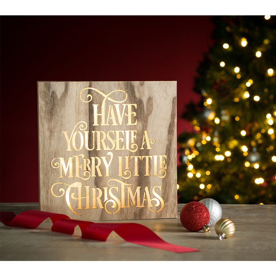 Compare cheap offers & prices of Robert Dyas Have Yourself a Merry Little Christmas Wooden Ornament manufactured by Robert Dyas