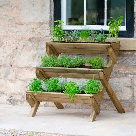 Planting herbs is easy, even in small spaces, with the Zest4Leisure Stepped Herb Planter