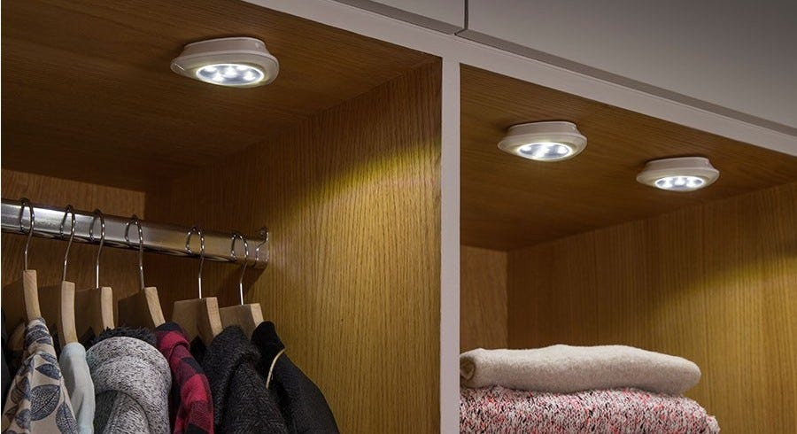 Illuminate Wardrobes and Dark Spaces Wirelessly with These Amazing Battery Operated Lights