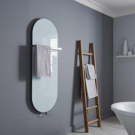 Vetro Soap 1380 x 500 mm Glass Radiator 1651B - White