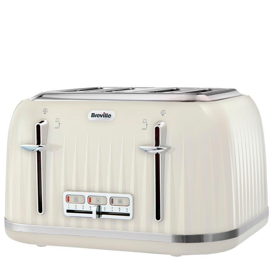 Breville impressions 4-slice wide -slot toaster cream