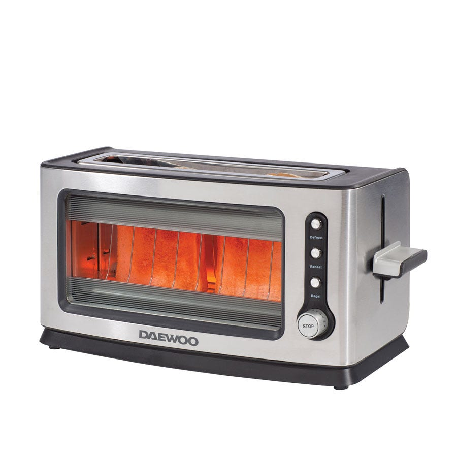 Daewoo 2 slice glass toaster