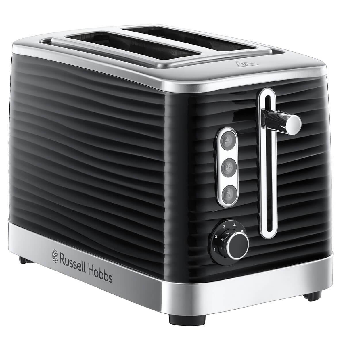 Russell Hobbs inspire black 2 slice toaster