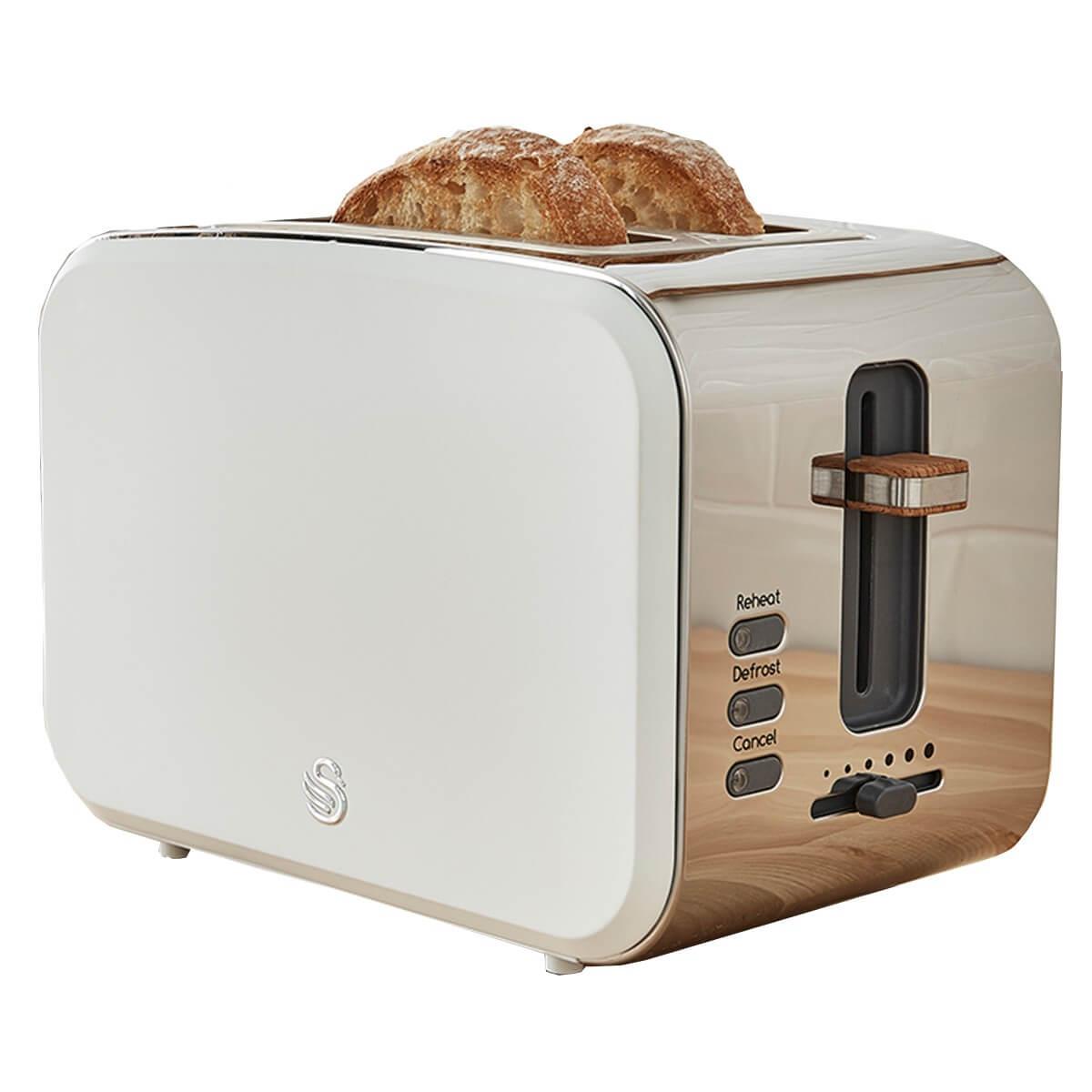 swan nordic 2 slice toaster white