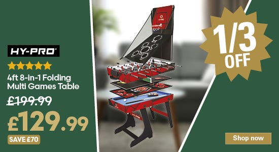 Save on the hy-pro multi games table