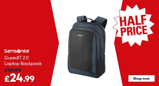 Get half price on Samsonite GuardIT 2.0 Laptop Backpack M 15.6