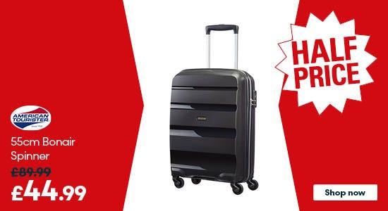 Get half price on American Tourister 55cm Bonair Spinner