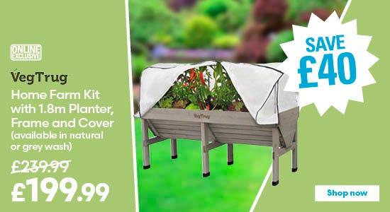 Save £40 on VegTrug Home Farm Kit in grey wash